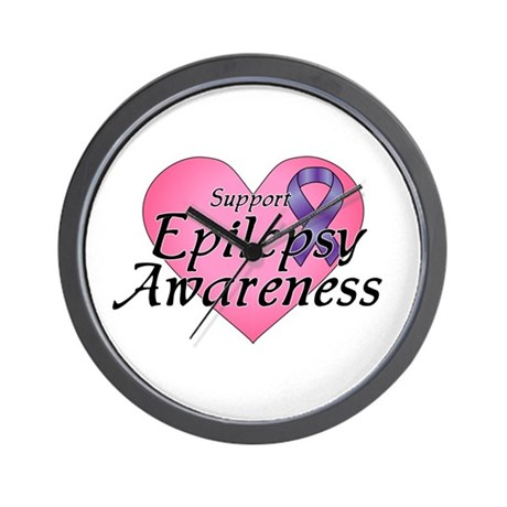 Support Epilepsy Awareness - Wall Clock