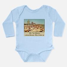 On The Beach Long Beach Long Sleeve Infant Bodysui