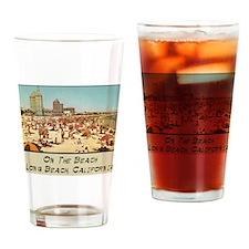 On The Beach Long Beach Drinking Glass