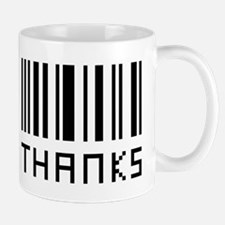 Thanks Bar Code Mug