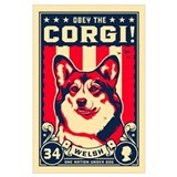 Corgi Wrapped Canvas Art