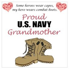 Proud US Navy Grandmother Poster