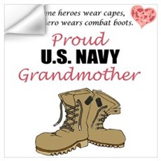 Proud US Navy Grandmother Wall Decal