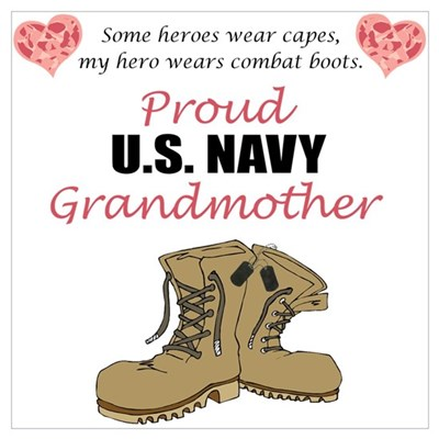 Proud US Navy Grandmother Framed Print