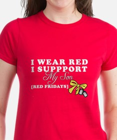 I Wear Red. - I support my Son
