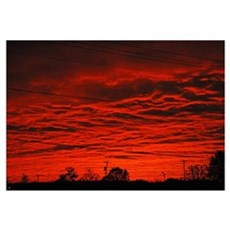 Delta Fiery Sunrise Framed Print