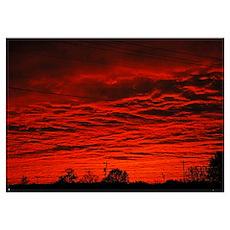 Delta Fiery Sunrise Poster