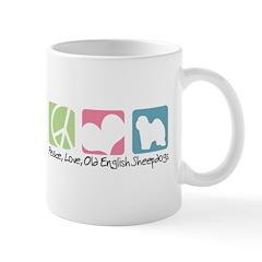 Peace, Love, Old English Sheepdogs Mug