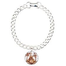 Riyah-Li Designs Happy Buddha Charm Bracelet, One