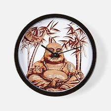 Riyah-Li Designs Happy Buddha Wall Clock