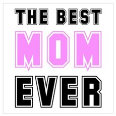 Best Mom Ever Canvas Art