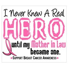 Never Knew A Hero 4 PINK (Mother-In-Law) Framed Pa Canvas Art