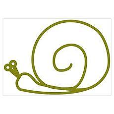 Green Snail Poster