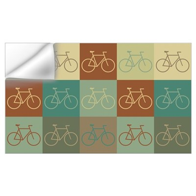 Bicycling Pop Art Wall Decal