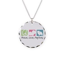 Peace, Love, Papillons Necklace