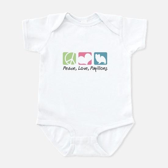 Peace, Love, Papillons Infant Bodysuit