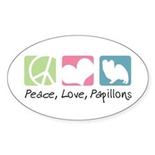 Peace, Love, Papillons Decal
