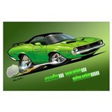 Plymouth barracuda Wrapped Canvas Art