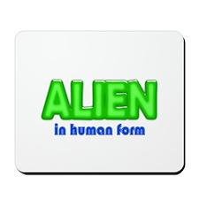 Alien in Human Form Costume Mousepad