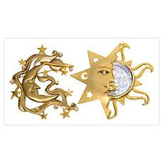 Sun Moon Sparkle Poster
