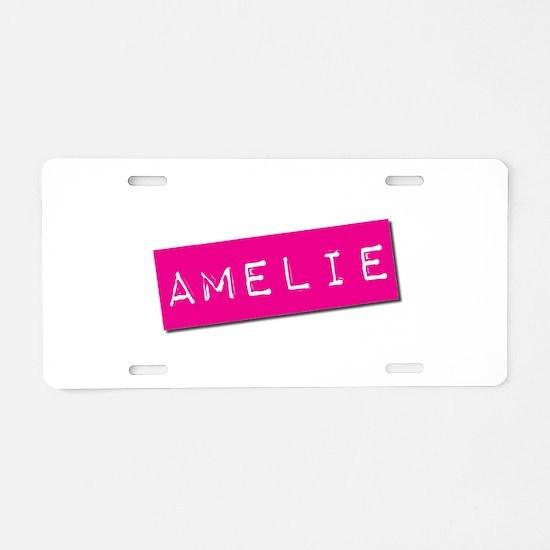 Amelie Punchtape Aluminum License Plate