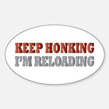 Keep Honking Oval Decal
