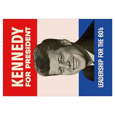 John F. Kennedy for President Poster