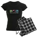 Peace, Love, Jack Russells Women's Dark Pajamas