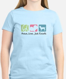 Peace, Love, Jack Russells T-Shirt