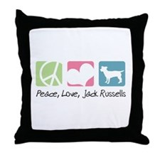 Peace, Love, Jack Russells Throw Pillow