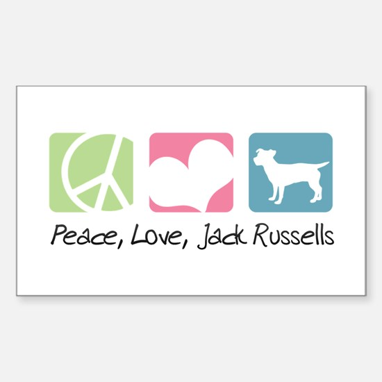 Peace, Love, Jack Russells Sticker (Rectangle)