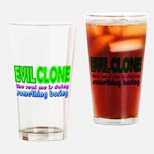 Evil Clone Halloween Costume Drinking Glass