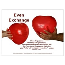 Even Exchange - Framed Poster