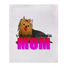 Yorkshire Terrier Mom Throw Blanket