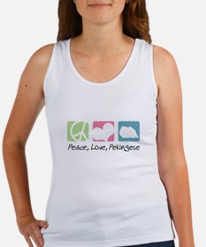 Peace, Love, Pekingese Women's Tank Top