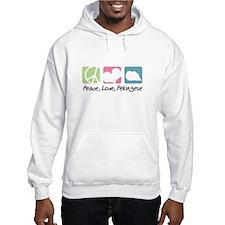 Peace, Love, Pekingese Hoodie