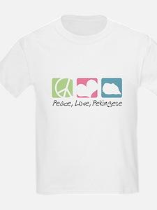 Peace, Love, Pekingese T-Shirt