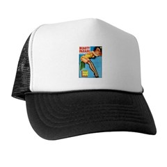 Beauty Parade Pin Up Girl in Yellow Trucker Hat