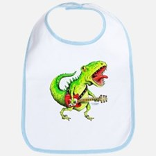 Rock and Roll Dinosaur Bib