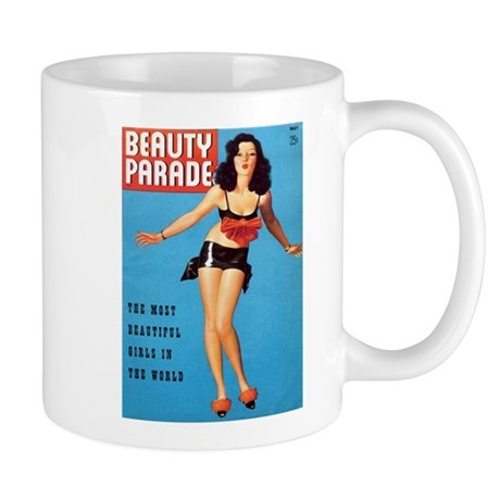 Beauty Parade Vintage Brunette Pin Up Mug
