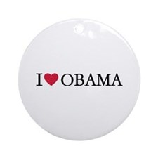 I love Obama Ornament (Round)