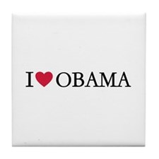 I love Obama Tile Coaster