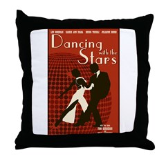 Retro Inspired DWTS Poster Throw Pillow