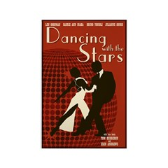Retro Inspired DWTS Poster Rectangle Magnet