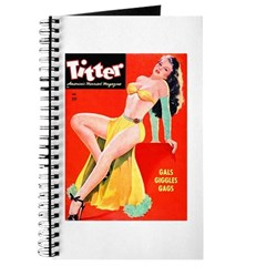 Titter Pin Up Girl with Long Hair Journal