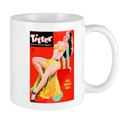 Titter Pin Up Girl with Long Hair Mug