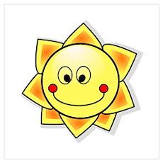 Cartoon Sun Poster