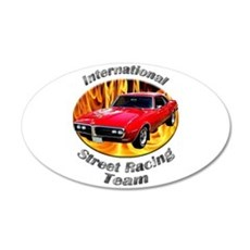 Classic Pontiac Firebird Medium Oval Wall Peel