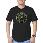 Men's Fitted Bear Hunting T-Shirt (dark)