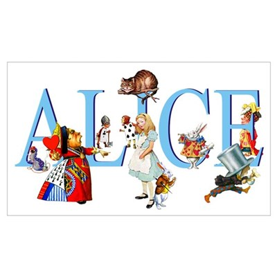 ALICE & FRIENDS Framed Print
